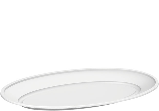 Plastic Oval Trays White 1250 ml 10 kg