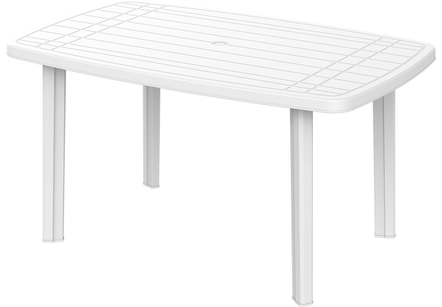 Long Plastic Table