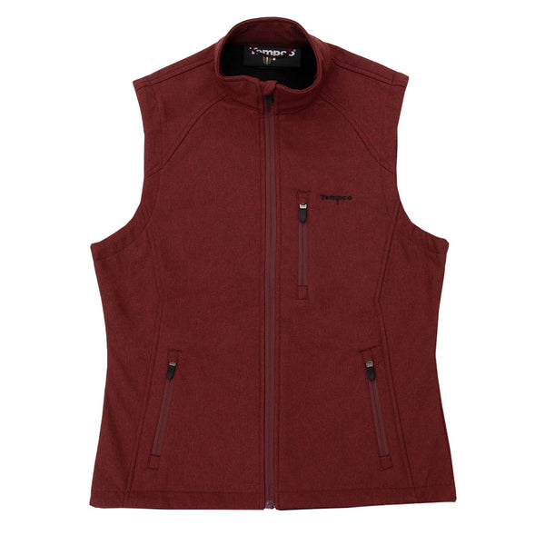 Women's Heather Softshell Vest - TL211 - Tempco Clothing