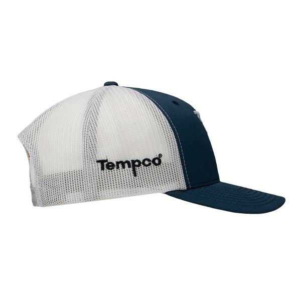 Tempco Iron Feather Mesh Snapback Hat - TCPB30 Navy/Silver - Tempco Clothing