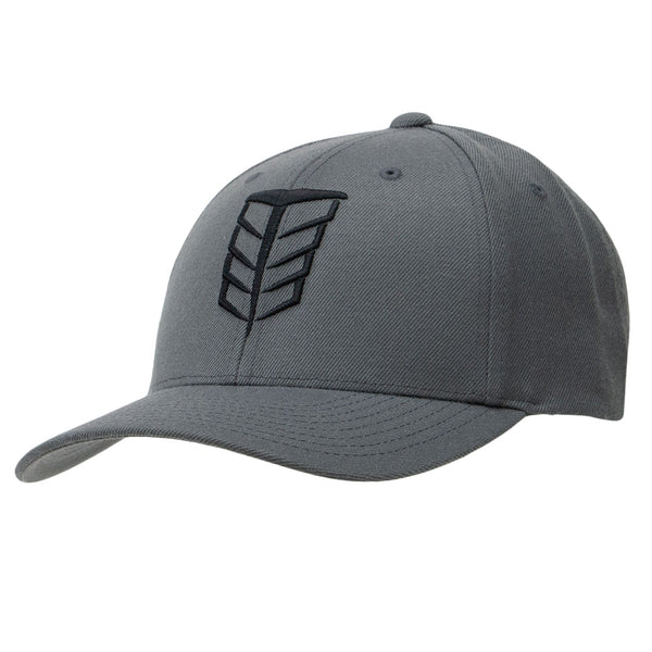 Tempco Iron Feather Snapback Hat - TCPA20 Gray/Black - Tempco Clothing
