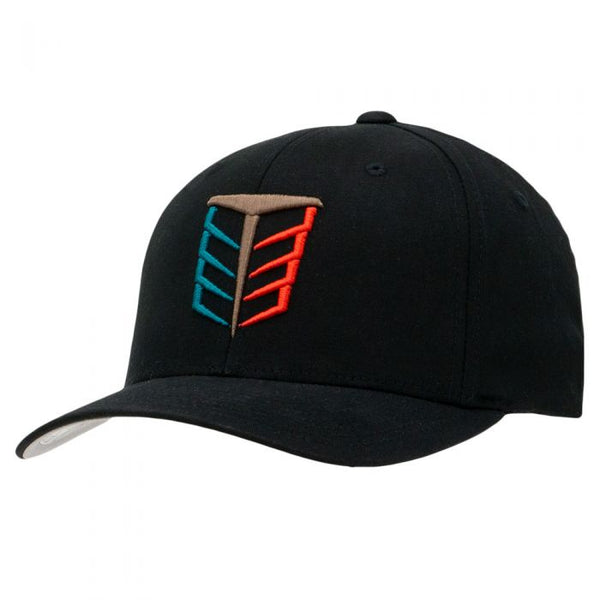 Tempco Iron Feather Fitted Hat - TCPA10 Black/Multi - Tempco Clothing