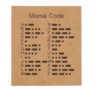 Never Give Up Morse Code Bracelet