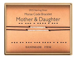 Mother & Daughter Morse Code Bracelet - morsecodebracelets