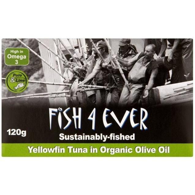 Load image into Gallery viewer, Fish4Ever YellowFin Tuna Fish in Organic Olive Oil 120g