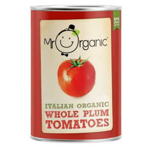 Mr Organic Whole Plum Tomatoes 400g