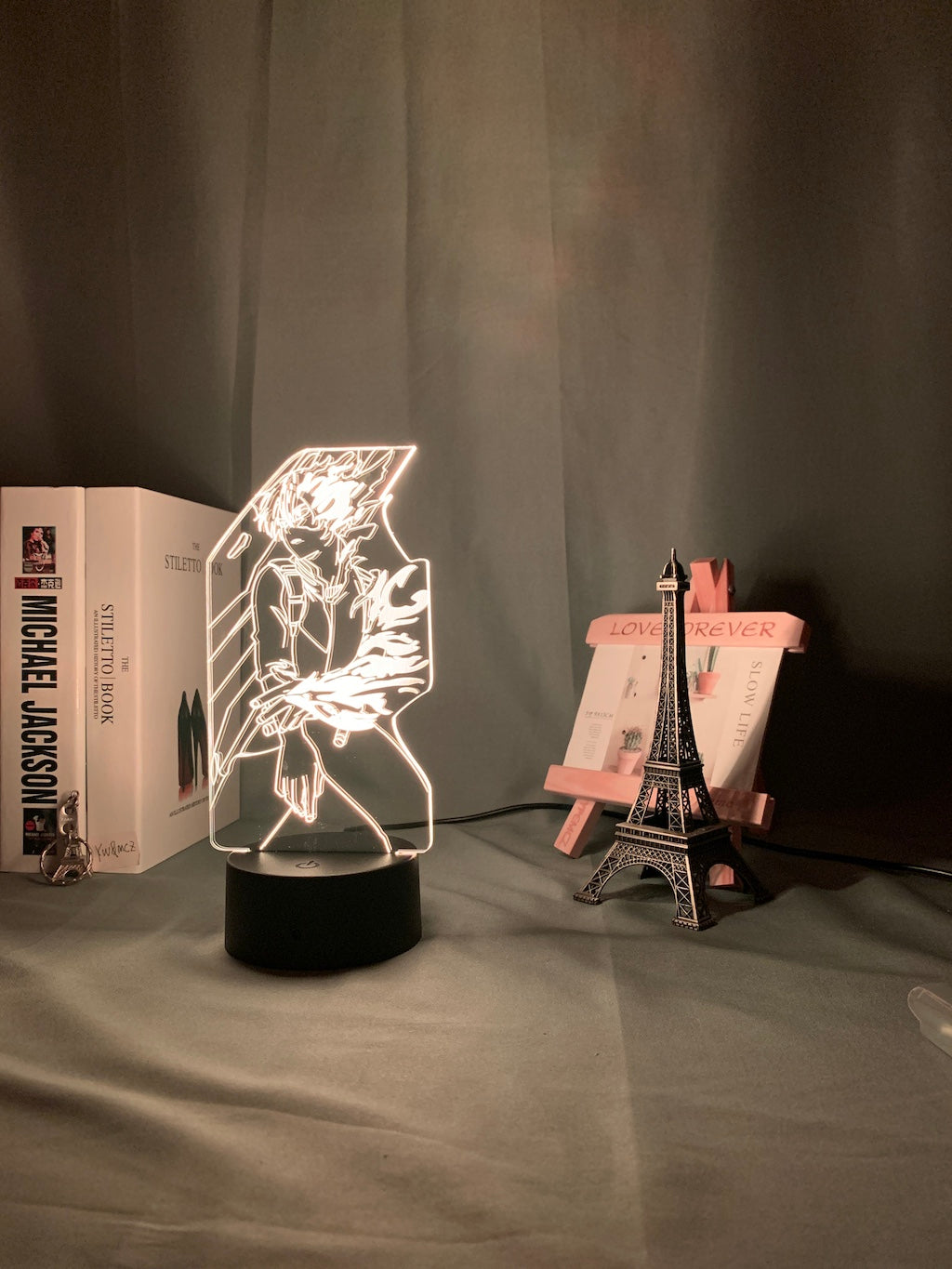 My Hero Academia Shoto Todoroki 3D Led Night Lamp