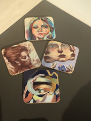 Coasters featuring artwork - great gift for grandparents
