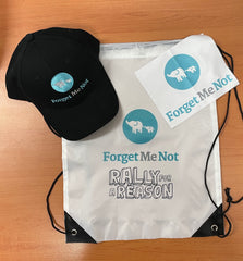 Customised gift bag for charity event - cap, lens cloth and bag