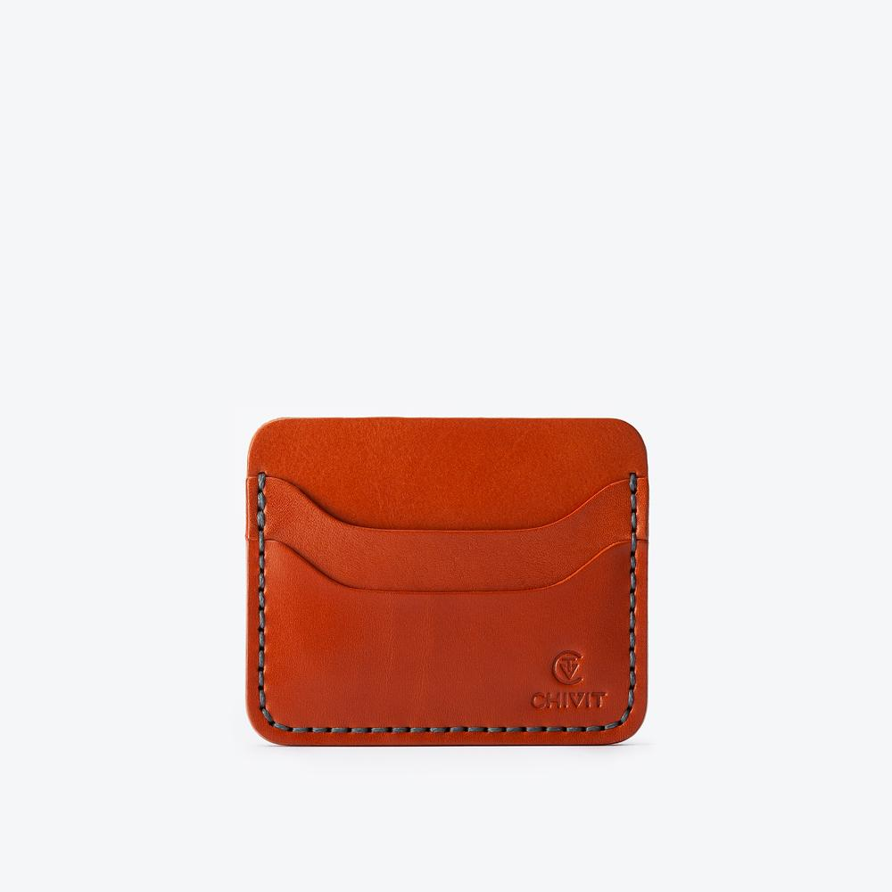 Double Cognac 5 Slot Card Wallet