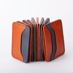 Single Indigo 3 Slot Card Wallet