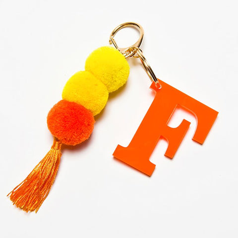 POM POM KEYCHAIN - ORANGE F
