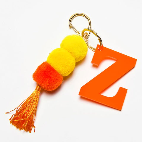 POM POM KEYCHAIN - ORANGE Z