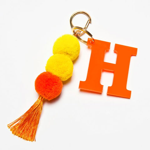 POM POM KEYCHAIN - ORANGE H