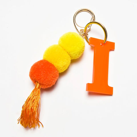 POM POM KEYCHAIN - ORANGE I