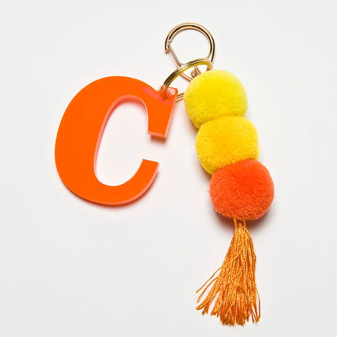 POM POM KEYCHAIN - ORANGE C