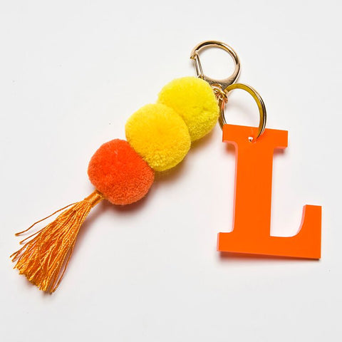 POM POM KEYCHAIN - ORANGE L