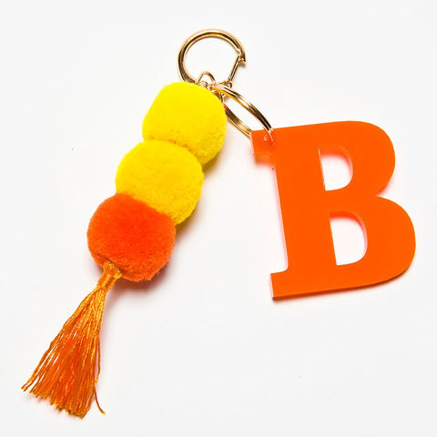 POM POM KEYCHAIN - ORANGE B