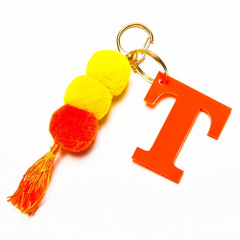 POM POM KEYCHAIN - ORANGE T
