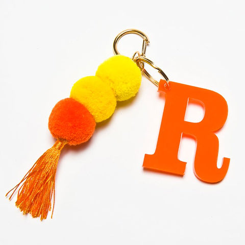 POM POM KEYCHAIN - ORANGE R