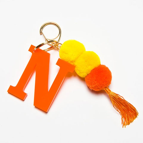POM POM KEYCHAIN - ORANGE N