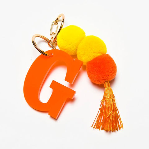 POM POM KEYCHAIN - ORANGE G