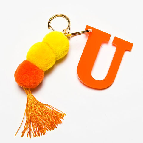 POM POM KEYCHAIN - ORANGE U