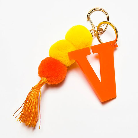 POM POM KEYCHAIN - ORANGE V