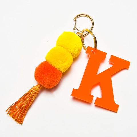 POM POM KEYCHAIN - ORANGE K