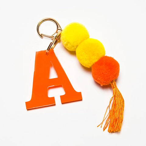 POM POM KEYCHAIN - ORANGE A