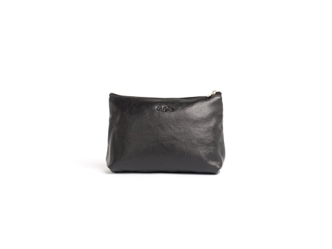 The Samantha - Black Leather Pouch