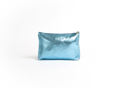 The Amanda - Cotton Candy Leather Pouch