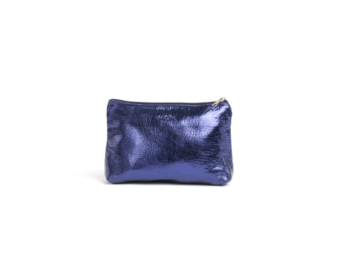 The Jordan - Indigo Leather Pouch