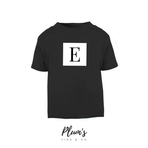 """E"" Short Sleeve T-Shirt"