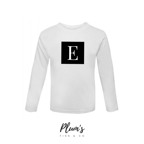 """E"" Long Sleeve Top"