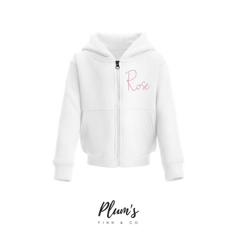 """Rose"" Zip Up Hoodie"