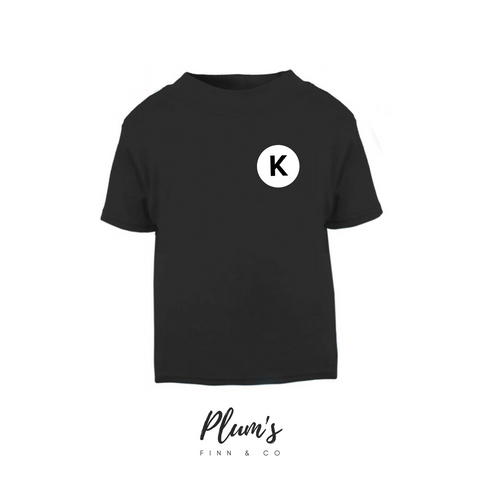 """K"" Short Sleeve T-Shirt"