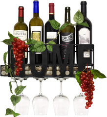 Image of Metal Wall Mounted Wine Rack