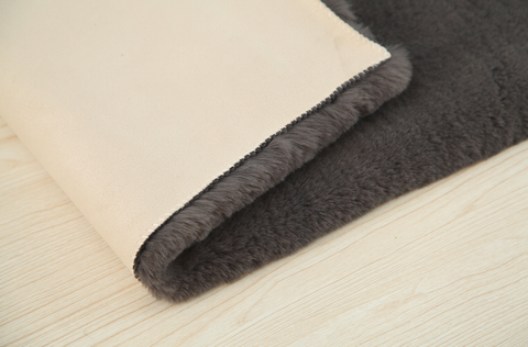 Rugs with Bonded Suede Backing