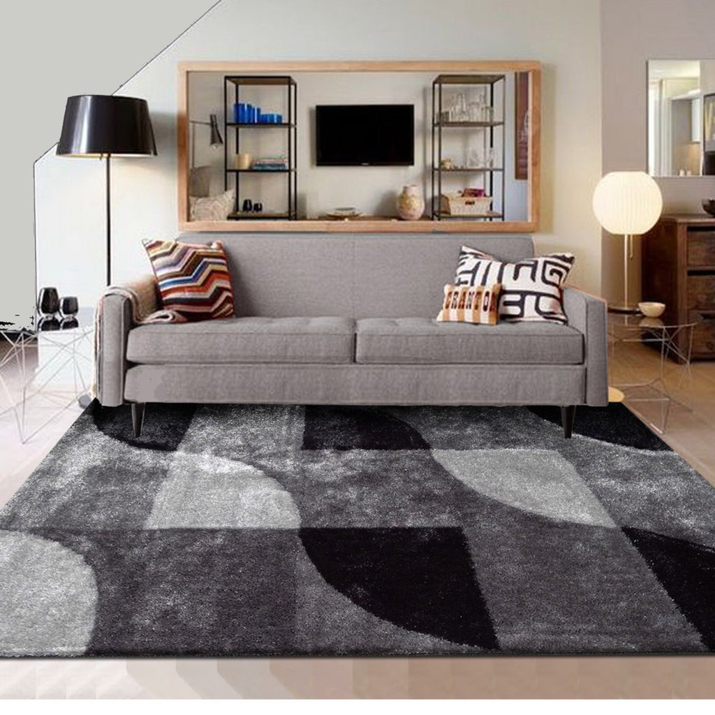Vibrant Hand Tufted Modern Shag Lola 13 Area Rug by Rug Factory Plus