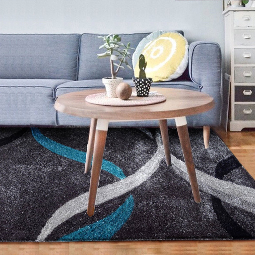 Vibrant Hand Tufted Modern Shag Lola 14 Area Rug by Rug Factory Plus