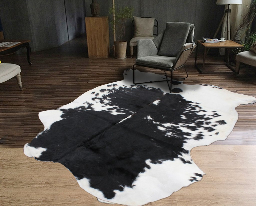 Real Leather Cowhide Cow7 by Rug Factory Plus