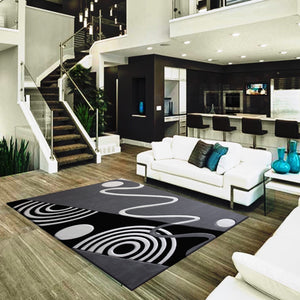 Vibrant Hand Carved Soft Modern Geo 126 Area Rug by Rug Factory Plus