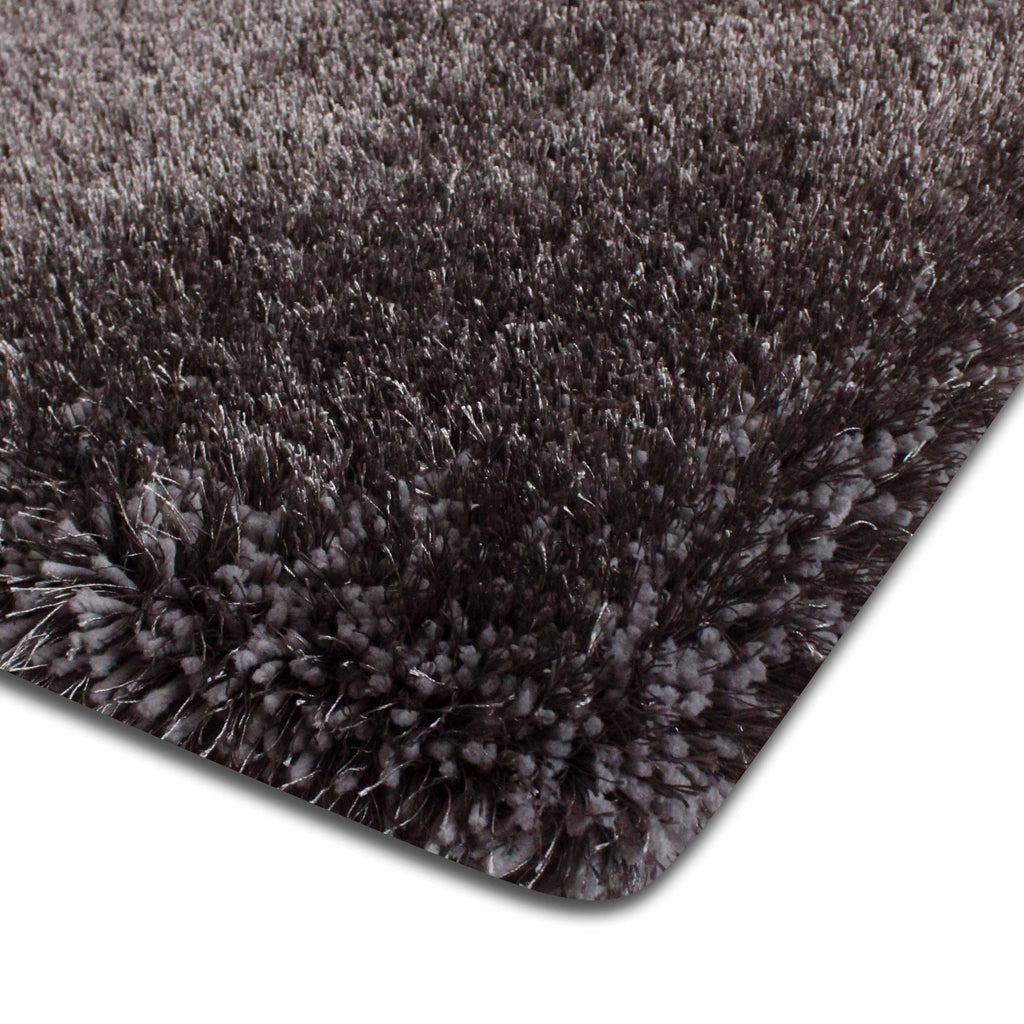 Heavy Solid 2''Pile  Shag Multi Textural Gray Area Rug