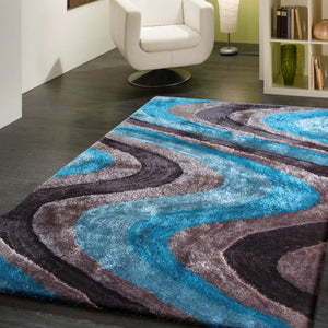 Luxurious Hand Carved Vibrant Living Shag 112 Area Rug by Rug Factory Plus
