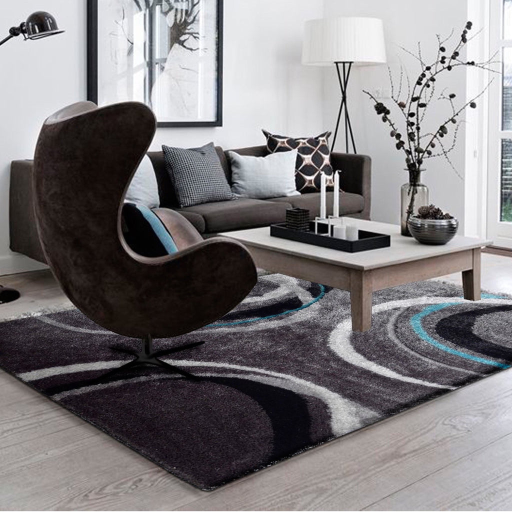 Vibrant Hand Tufted Modern Shag Lola 11 Area Rug by Rug Factory Plus