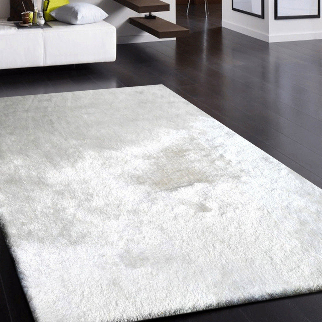 "Luxurious Hand Tufted Appx. 3"" High Pile Lurex Shag Area Rug by Rug Factory Plu"