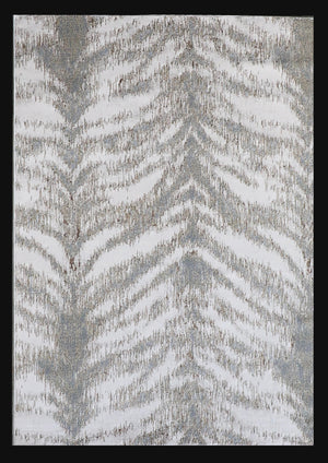 Safari Zebra Animal Print Abstract Area Rug