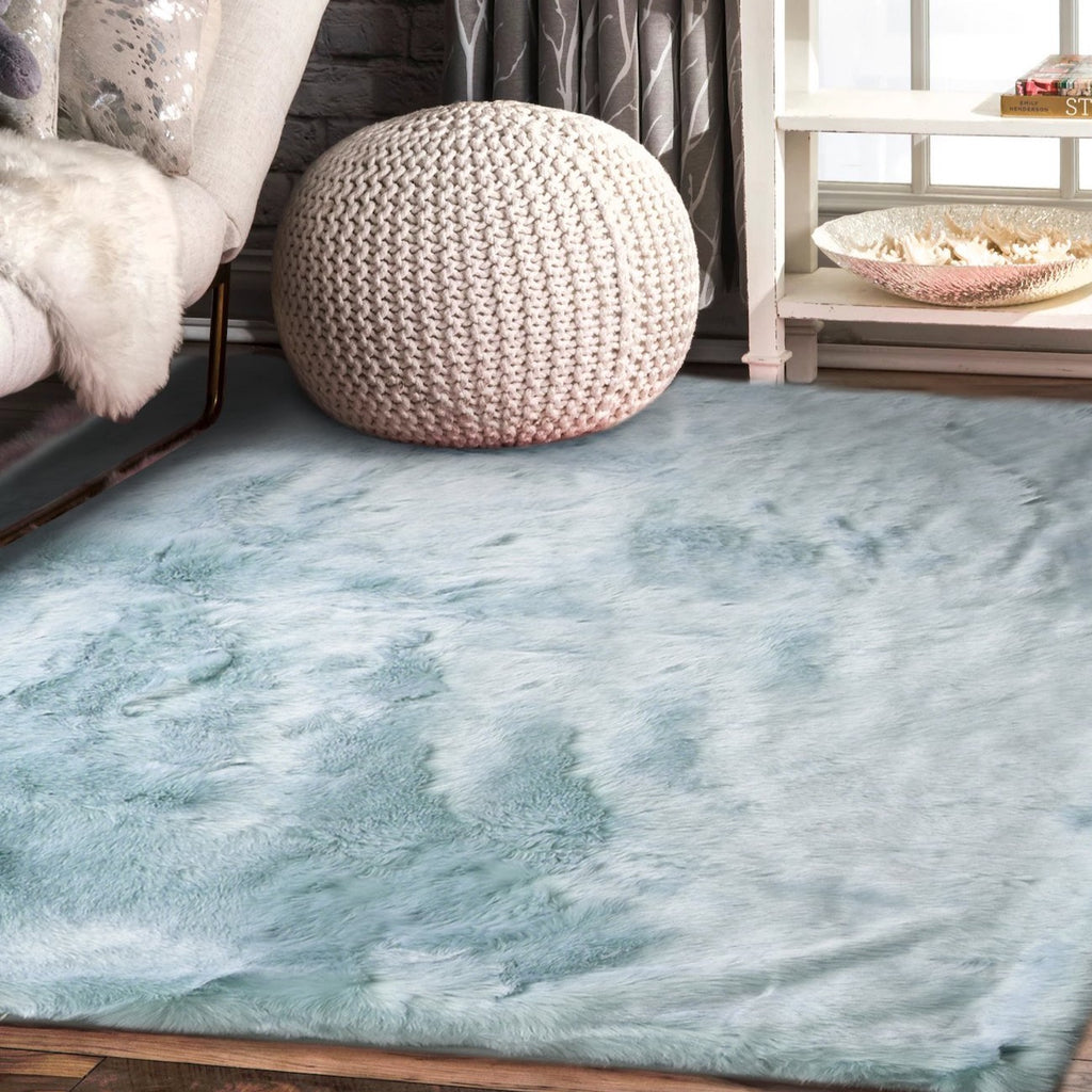 7TH Ray Dip Dye Modern Faux Fur Area Rug by Makymo