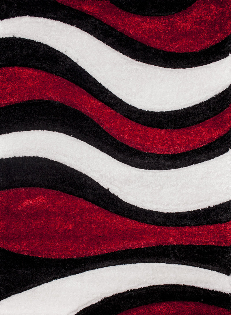 "Three Dimensional Plush Hand Carved Appx. 2"" Pile Sorrento 725 Shag Area Rug by Rug Factory Plus"